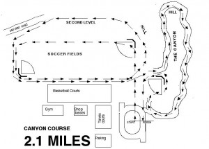 CASTRO VALLEY COURSE MAP 2.1 MILES
